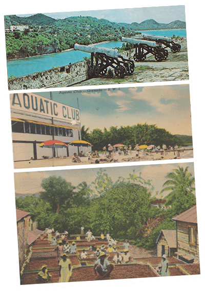 Vintage images of Grenada collected over the years by 473 Grenada Boutique Resort
