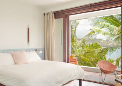 second story bedroom at our villa in grenada