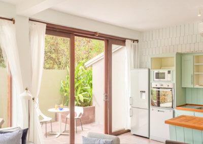 kitchen at the loft villa outdoors