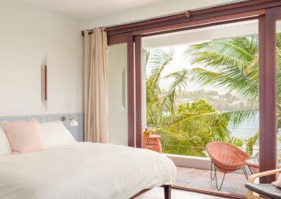bedroom at our loft villa view