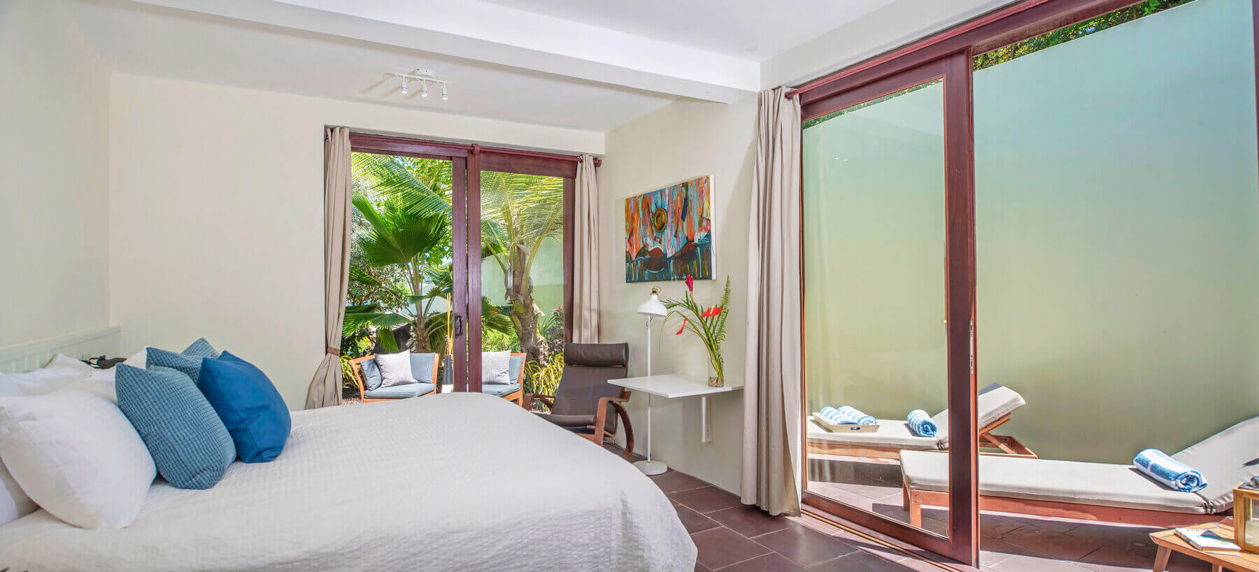 Bedroom sea view luxury villa