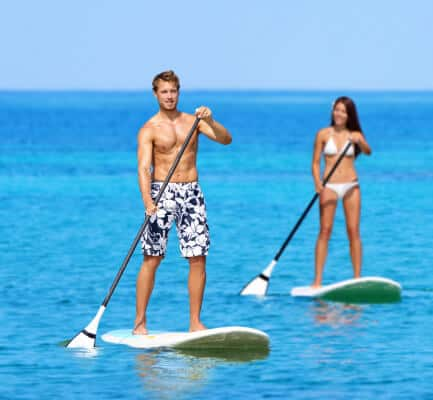Paddle boarding in Grenada