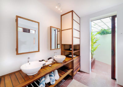bathroom inside the private pool villa