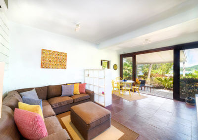 living spaces at the 2 bedroom seaview villa