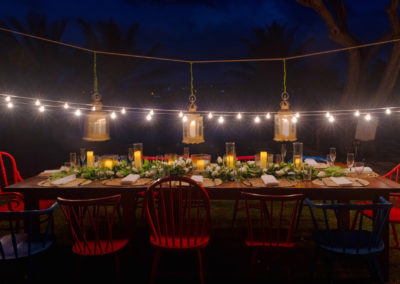 Candle light dinner at 473 Grenada Boutique Resort