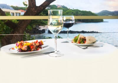 Food at 473 Grenada Boutique Resort