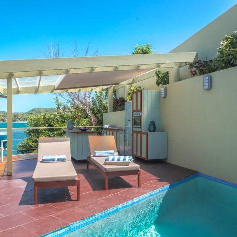 Private pool villa's view at 473 Grenada Boutique Resort