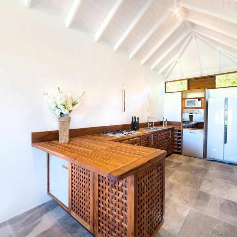 kitchen at the 3 bedroom villa in grenada
