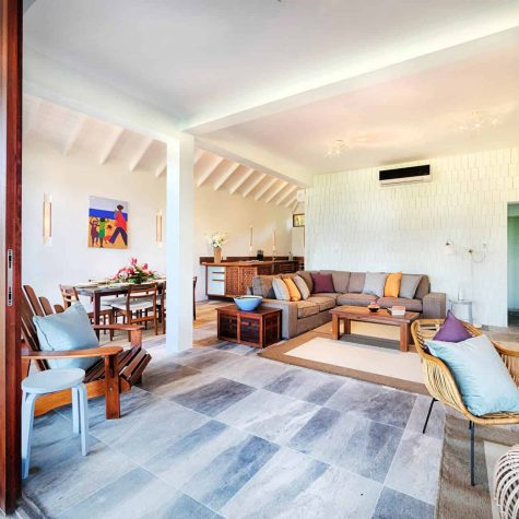 Living spaces at the 3 bedroom villa